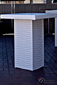 Tall White Ripple Cocktail Table