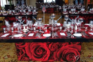 "Rose Tables 40"" x 8' x 30""h"