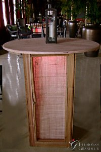 """Abaca Cocktail Tables 35"""" Top x 42""""h"""