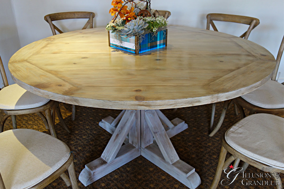 """Vintage Round Tables 48"""" round x 30""""h 60"""" round x 30""""h"""