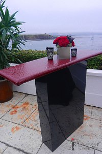 "Contemporary Tables 44"" x 14"" x 39""h Variety of Color & Styles available for Table Tops"