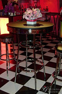 "Diner Cocktail Tables 30"" Top x 42""h"