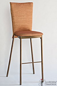 Bronze Diamond Back Barstools Gold Crinkle Chair Back Covers Gold Crinkle Cushion Covers