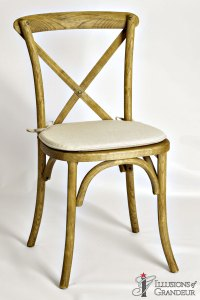 Vineyard Chairs Ivory Cushions