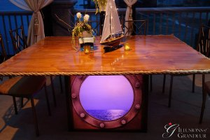 "Porthole Tables 56""x68""x30""h"