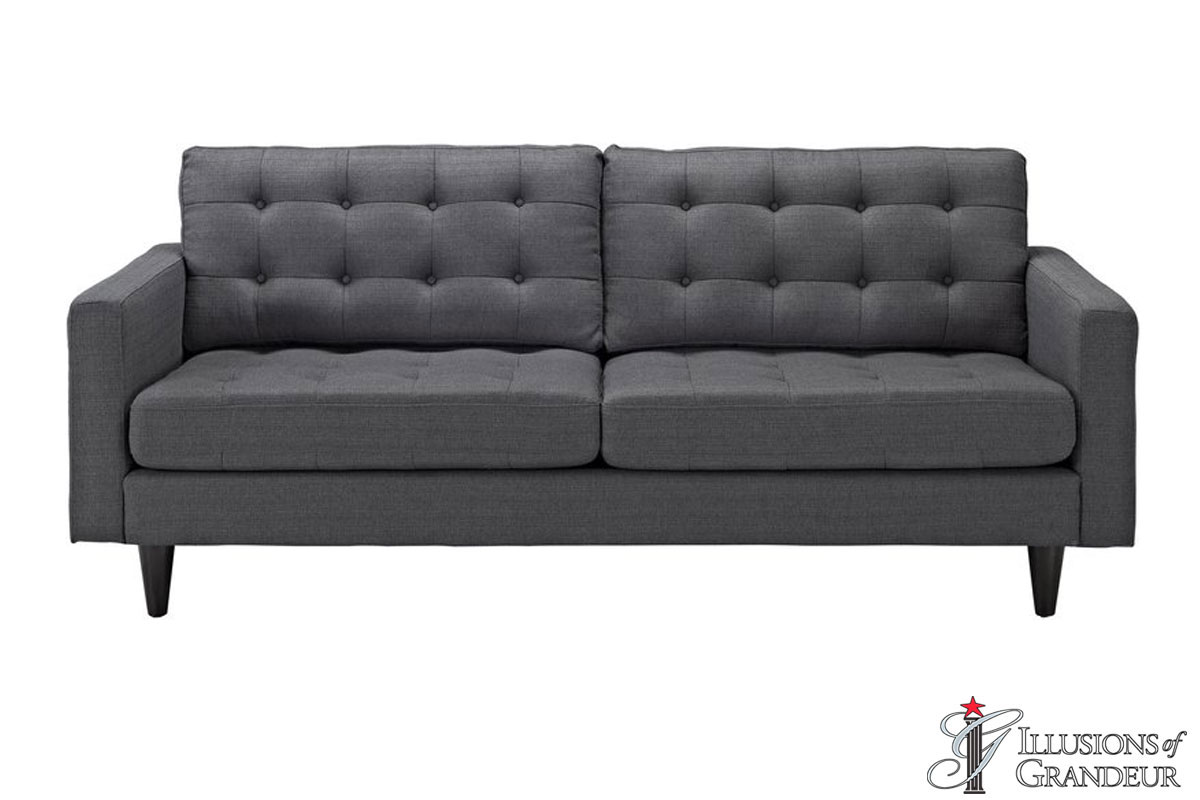 "Grey Sofas 34.5""H x 84.5""W x 35.5""D"