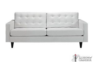 "White Leather Sofas 34.5""H x 84.5""W x 35.5""D"