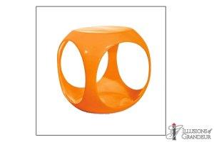 "Orange Cube Tables 15""W x 15D"" x 17""H"