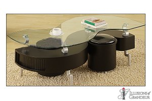 "Wave Coffee Table 51""W x 26D"" x 18""H"