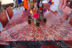 """Moroccan Tables 66"""" x 66"""" x 30""""h"""