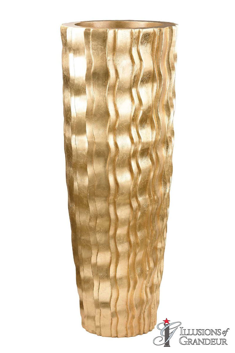 "Gold Wave Vases 18""x18""x47""H"