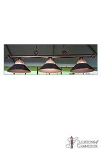 "Billiard Lights 60""x16""x16""H"