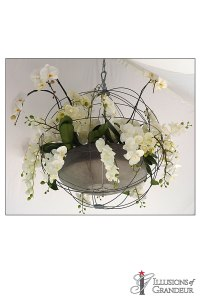 "Wire Sphere Chandelier 31.5""round"