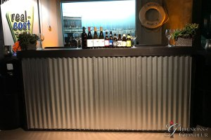 "Corrugated-Metal-Bar-24""x94""x46""H"