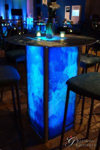 Abstract Blue Green Cocktail Tables