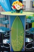 Green Surf Board Cocktail Tables