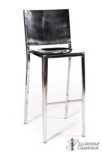 Silver Stainless Steel Barstools