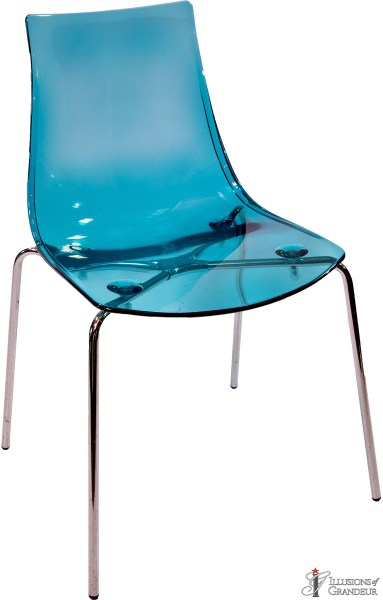 Aqua Acrylic Chairs