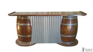 Barrels with Corrugated Metal Bars
