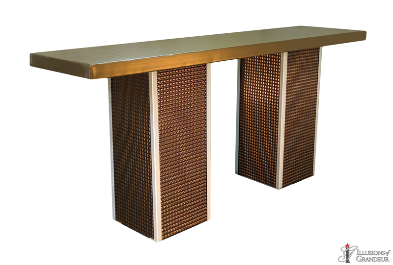 Bronze Square Tall Communal Tables