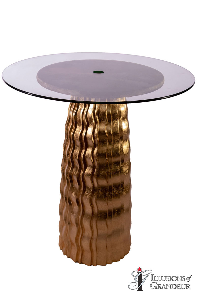 Gold Wave Cocktail Tables