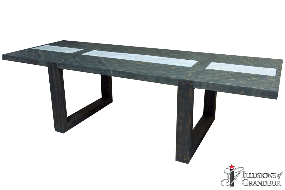 Lit Grey Wash Dining Tables