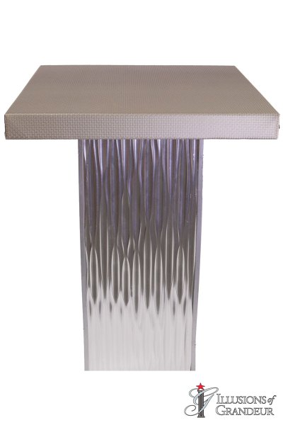 Silver Ripple Cocktail Tables