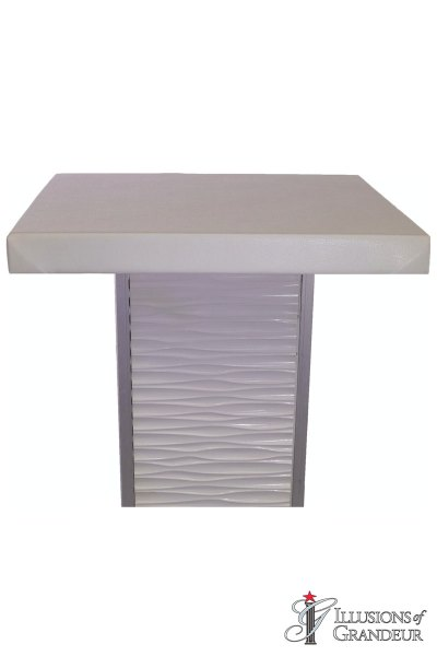 White Ripple Cocktail Tables ~ short