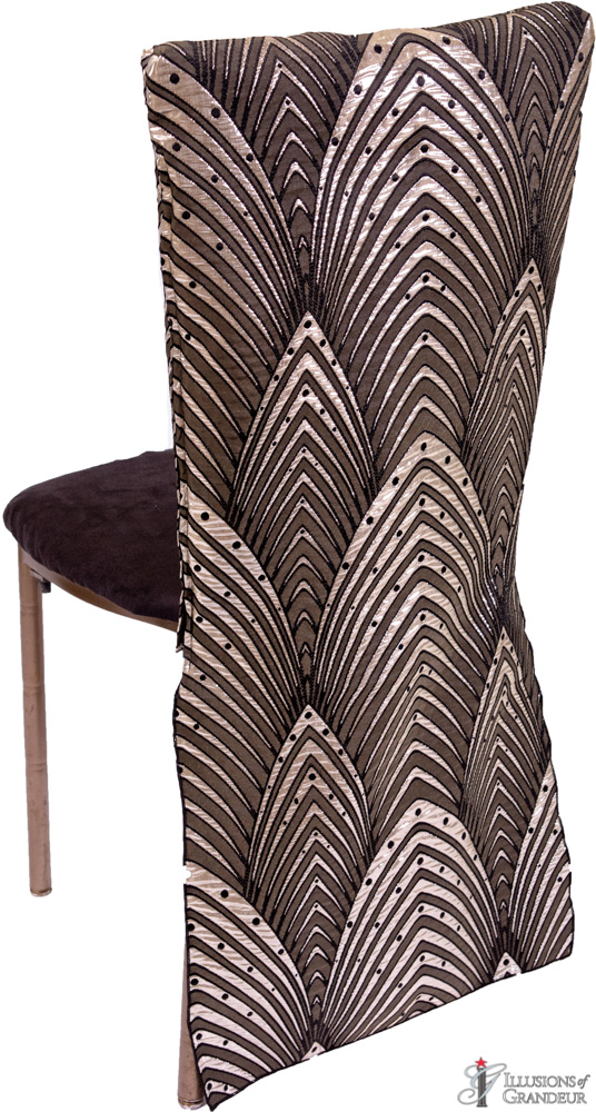 Bronze Diamond Chairs with Art Deco Chair Cover