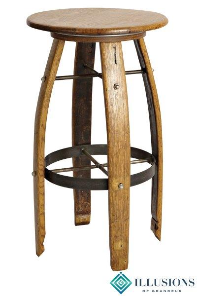 Wine Barrel Bar Stools