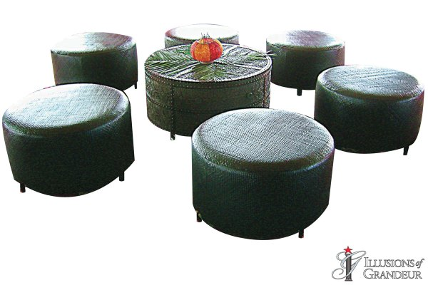 Black Ottomans