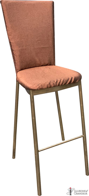 Diamond Back Bar Stools with Copper Cover