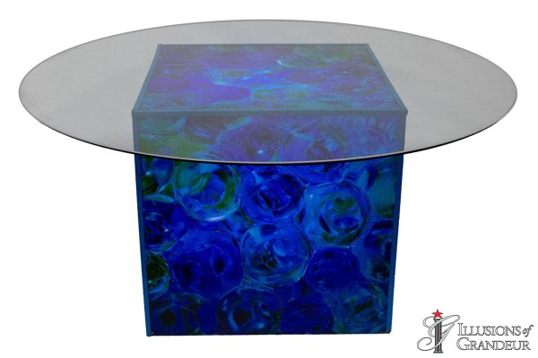 Illuminated Glass Float Dining Tables