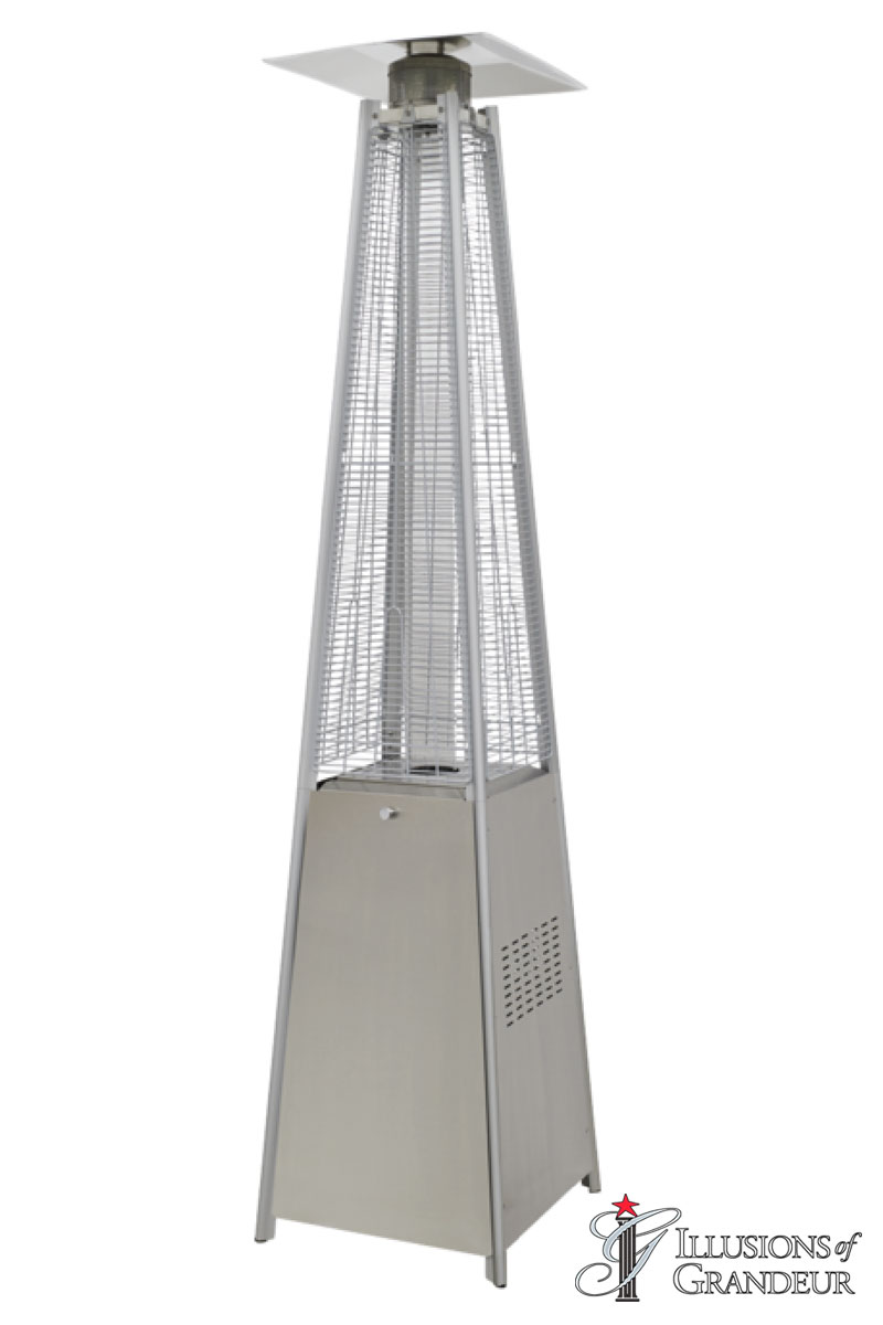 Patio Stainless Steel Pyramid Heaters