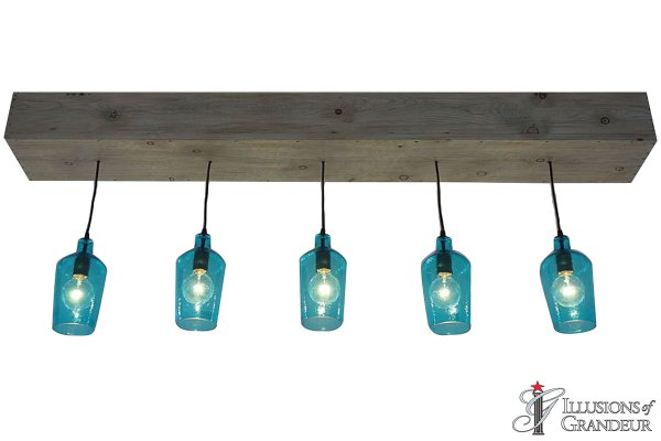 Teal Glass Pendants