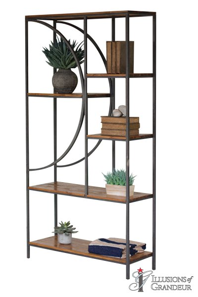 Wood and Metal Shelving