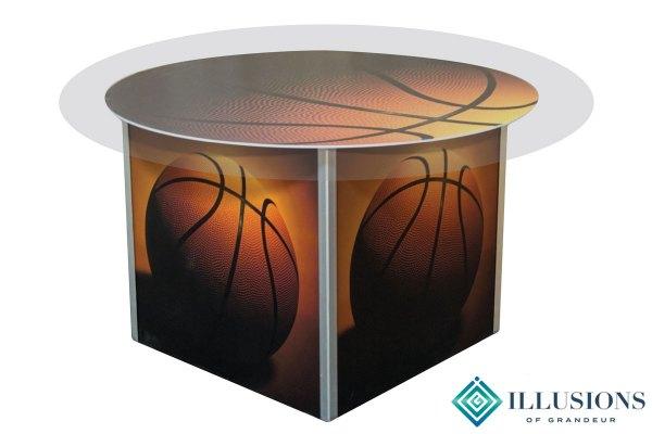 Illuminated Basketball Dining Tables