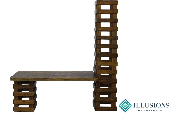 Rustic Dining Table with Tower