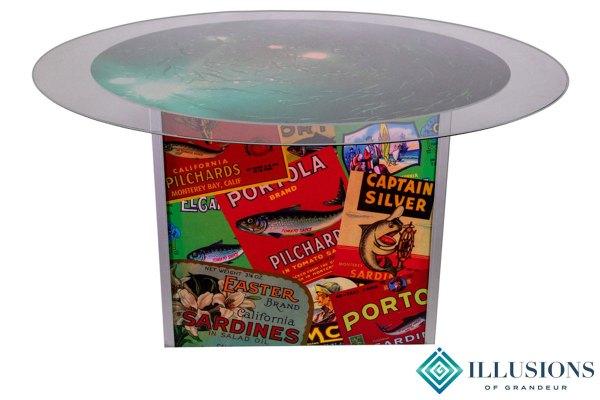 Illuminated Sardine Label Dining Tables