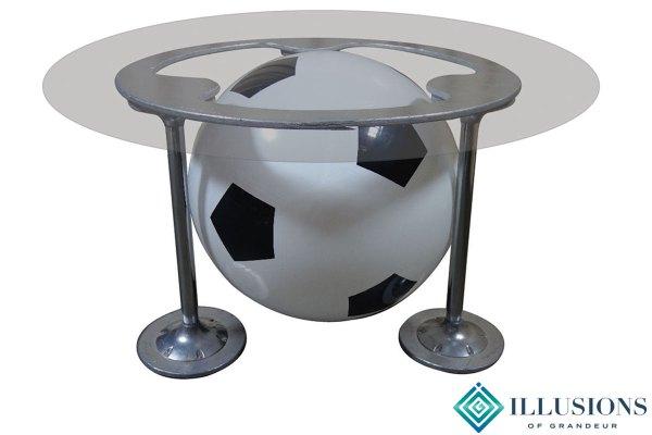 Illuminated Soccer Ball Dining Tables