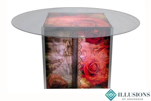 Illuminated Vintage Rose Dining Tables
