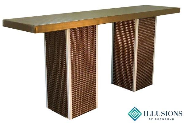 Bronze Square Communal Tables