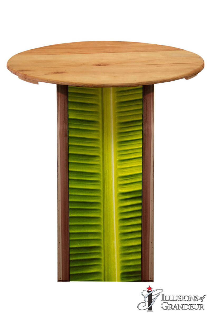 Illuminated Palm Leaf Cocktail Tables