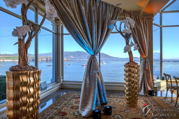 Wedding Draping in Room