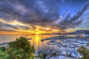 Palermo, tramonto al porto