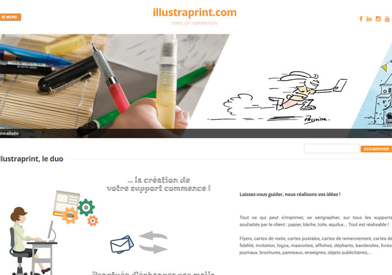 le site d'illustraprint - un site avancé