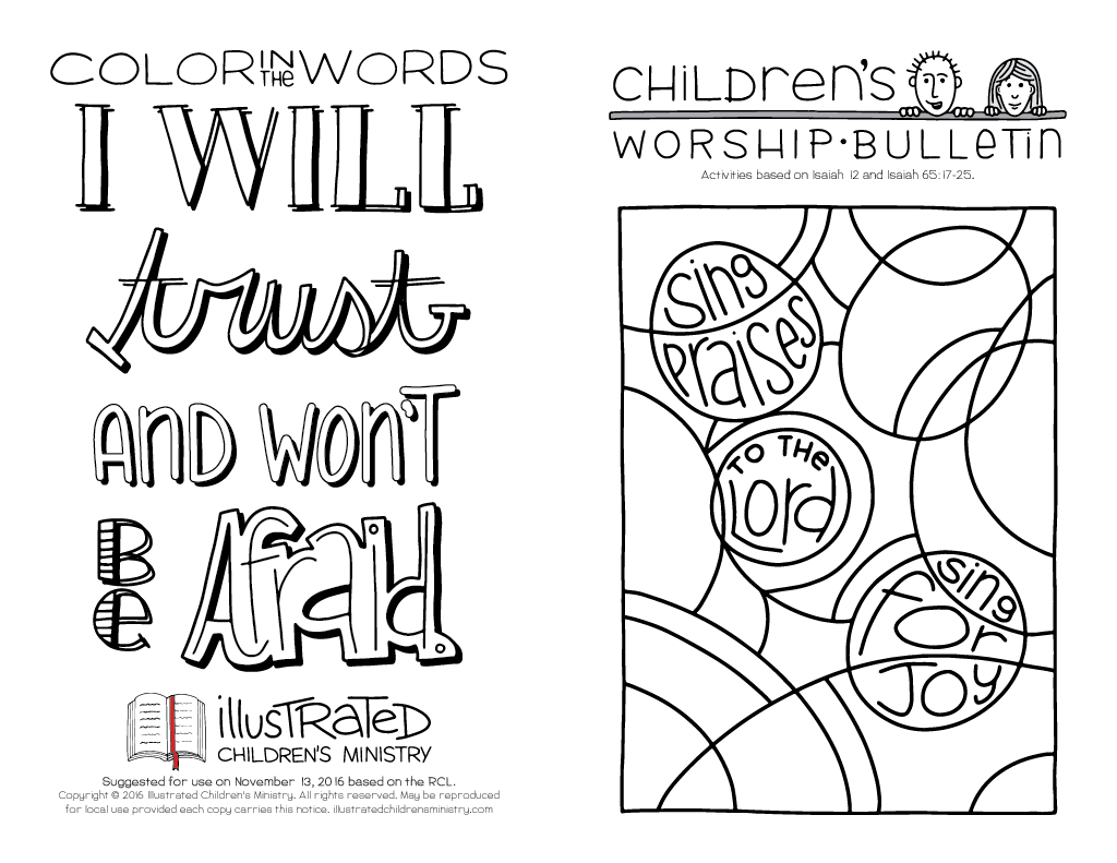 Hand Lettered Worship Bulletin Illustrated Ministry