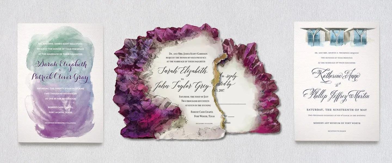 Illustrated Wedding Invitation Suites