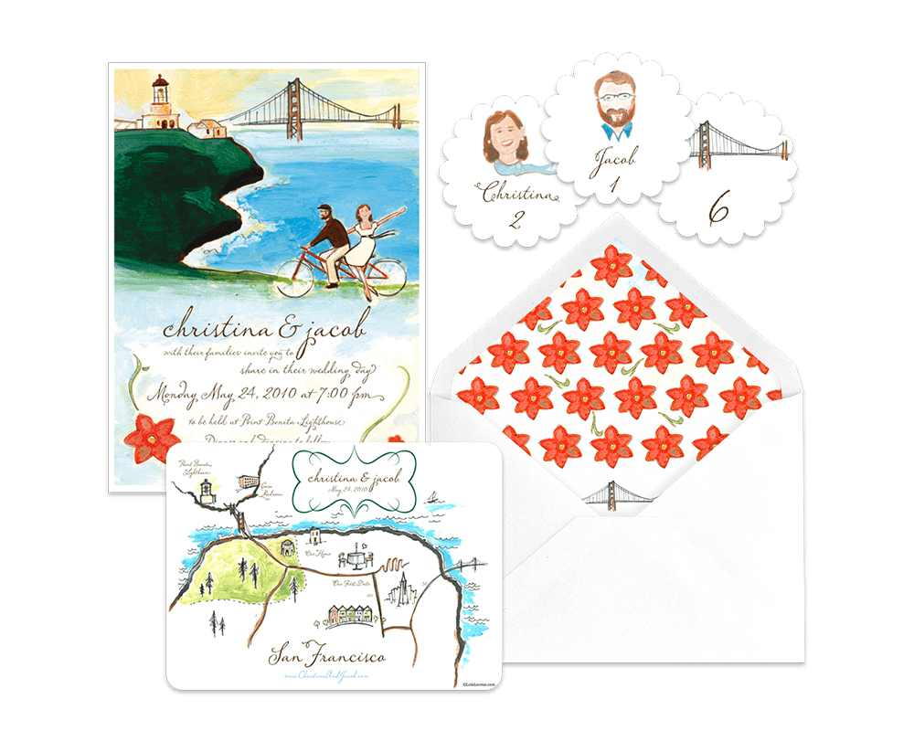 Ponta Bonita Lighthouse wedding featured on Snippet & Ink