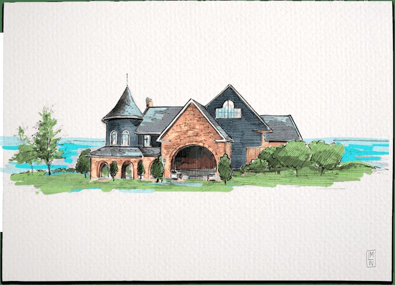 Stonebridge Ranch Country Club – McKinney, Texas Creative Wedding Illustration